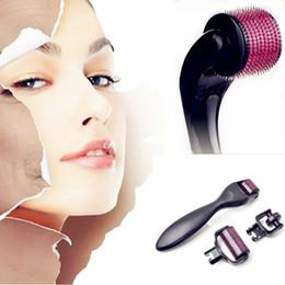 Micro derma körperwalzen online-3 in 1 Kit Derma Roller Titanium Micro Needle Roller 180 600 1200 Nadeln Haut DermaRoller für Körper und Gesicht