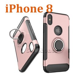 Wholesale Apple I Ring - Holder Stent Ring Cellphone Case For iphone 7plus i Phone 8 S7 edge case Convenient to take 2017 New Mobile phone cases