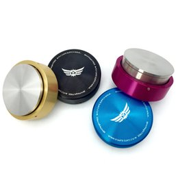 Wholesale Grinders Coffee - Free Shipping New Smart Stainless Steel Coffee Tamper Four Colors Professional Manually Coffee Machine Grinder Tool 58Mm 57.5Mm