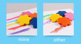 Wholesale old crayons - DHL New Arrival Baby Crayons Star Shape 12 Colors Safty Edible Erasable Cratons For Children Free Shipping (7)