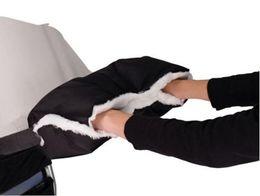 Wholesale Muff Hand Warmer - Baby Pram Stroller Warmer Gloves Pushchair Hand Winter Handlebar Muff Waterproof (Color: Black)