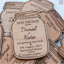 Wholesale Fashion Craft Supplies - Hot Sale wooden craft accessories Wedding Invitation Cards imaginative Little bottle Wooden Wedding Supplies New Fashion save the date