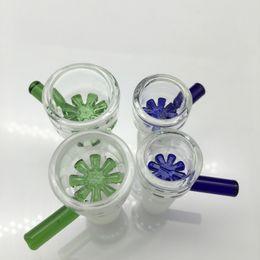 schneeflocke Rabatt 14mm 18mm Bowl Glass Bowl Stück Schneeflocke Filter berauschende Schüssel mit Honeycomb Screen Runde Rauchen Bowls für Bong Dab Rig