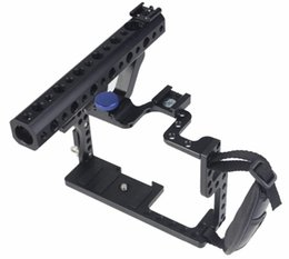 Wholesale Cage House - Wholesale- F11100 Professional GH3 GH4 Protective Housing Case Handle Grip Rugged Cage Combo Set DSLR Rig Digital Camera