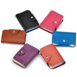 Wholesale Korean Orange Dress - hot sale 12 colors 26 slots fashion new ID bank card case wallet leather card holder