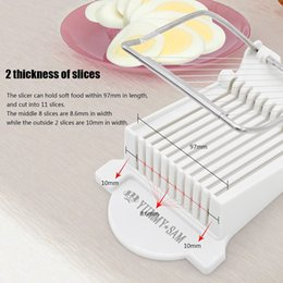 Wholesale Sale Eggs - Luncheon Meat Slicer Cheese Boiled Egg Ham Cutter Fruit Slicer BPA Free 180°Rotatio New brand and Hot sale