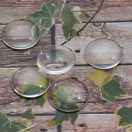 Wholesale Sticker Domed - free Shipping 30mm Clear Transparent Round Domed Magnifying Glass Cabochon Inserts Sticker for pendant setting tray Jewelry50pc