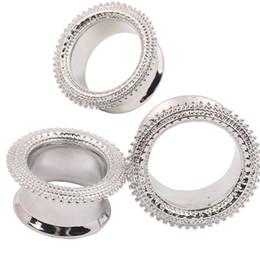 Wholesale Stretcher Plug Kit - 24piece Brass Ear Plug Taper Kit Gauges Expander Stretcher Stretching Piercing Gold Copper Body Jewelry 6 to 16mm
