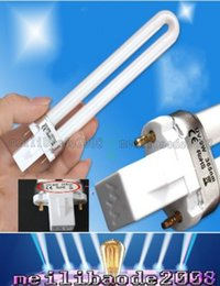 Wholesale Uv Tube Replacement Gel Lamp - 9W UV Replacement Light Bulb Tube for 36w UV Nail Curing Lamp 365nm Dryer Light UV Gel Machine Lamp Light free shipping MYY191