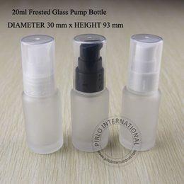 Wholesale Milk Glass Jars Bottles - 20ml Frosted Glass Lotion Pump Spray Bottle Cream Containers Split Charging Jars Cosmtic Packaging Skin Milk Jars 5pcs