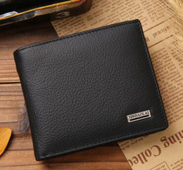 Wholesale Designers Clutches - Drop shipping Fashion designer Gentlemen prefer short wallets clutch leather men women Business card holders wallet with box