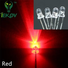 Wholesale 1000pcs bag MM Round Top Red leds Urtal Bright Light Bulb Led Lamp mm Emitting Diodes Electronic Components Hot Sale