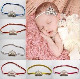 Wholesale Cheap Kids Jewellery - Photo props! High-grade pearl crown children hair ribbon,girls headband accessories,kids fashion cheap jewelry,headwear jewellery.20pcs.QF