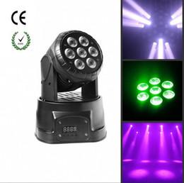 2019 luz de cabeça em movimento para discoteca Venda quente LED Moving Head Wash Light 7 pcs 10 w RGBW Para Stage Party Discoteca Dj Boate