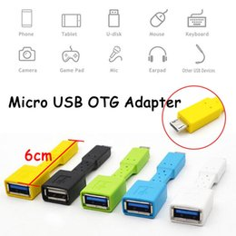 Wholesale Micro Usb Otg Cable Adapter - 6cm USB 2.0 Female To Micro USB Male OTG Interface Data Sync Convertor Adapters DH1700032