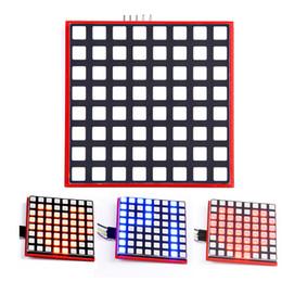 Wholesale Dot Matrix Led Rgb - LED Full Color 8*8 Dot Matrix Screen for Raspberry Pi 3 2 B+ RGB LED Display Board 8x8 RPI-RGB-LED-Matrix