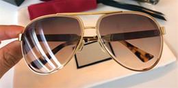 Wholesale Eyewear Aviator - New fashion designer sunglasses metal aviator frame crystal cutting lens top quality uv400 protection eyewear with original box 0314