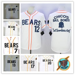 Wholesale Blue Red Movies - Men's stitched Bad News BEARS Movie baseball Jerseys #3 Kelly Leak #12 Tanner Boyle #4 #7 #13 #17 #20 Chicos Bail Bonds Baseball Jersey S-3X