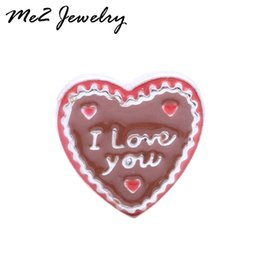 Wholesale Chocolate Living Locket - Fashion Jewelry Charms 20 pcs lot! 2016 New Free Shipping chocolate I LOVE YOU floating Charms Fit Living Lockets