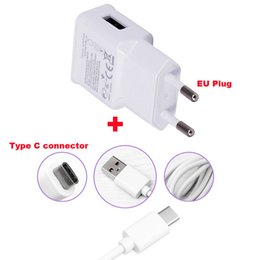 Wholesale Oppo Phones - 2A EU Plug Wall Cell Phone Charger Portable Travel Mobile Phone Charger+Type C USB Data Cable For Oppo Oneplus Two Oneplus 2, Letv Le Max2