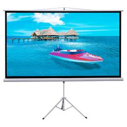 "Wholesale Projector Tv Screen - 100"" Tripod Foldable Projector Projection Screen 87x49 Movie Projector 16:9"