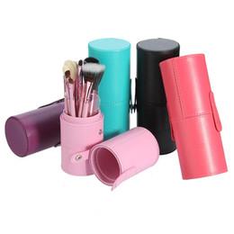 Wholesale Cylinder Makeup Brush Holder - 12Pcs Makeup Brush Set +Cup Holder Professional Cosmetic Beauty Powder Blush Brushes Face Make Up Brush Tools with Cylinder Case