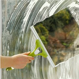 Wholesale Glass Window Squeegee - MULTIFUNCTIONAL CLEANING CLEANER WIPER BRUSH WASHER HAND HELD SQUEEGEE SHOWER AUTO WINDSHIEDL WASH CAR WINDOWS GLASS WATER DRY BLADE HANDY