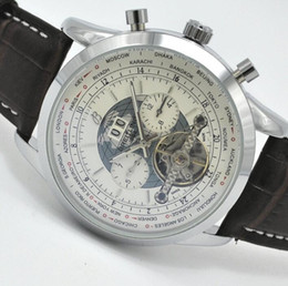 Wholesale Acrylic Price Tags - Discount Price Luxury Brand Male Automatic Mechanical Wristwatch World Map Classic Designer Tourbillon Men Watches Hombre 45MM
