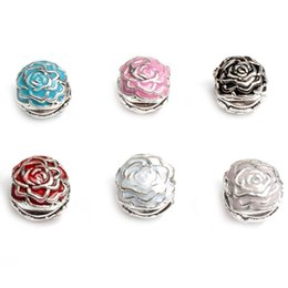 Wholesale Women Pad Clips - Safe Clip Rose Flower Charm Bead 925 Silver Plated Fashion Women Jewelry Stunning Design European Style For Pandora Bracelet PAD-4