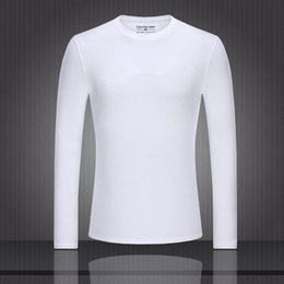 Wholesale Cheap V Neck Mens Shirts - Pure colors soft warm cheap shirts discount white black top quality 2017 calvink 95% cotton shirt Men Long sleeve keepsake mens M-XXXL