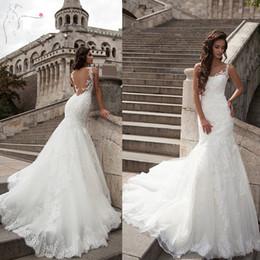 Wholesale Dresses Dentelle - Elegant Lace Appliques White Mermaid Wedding Dresses Sexy Backless Bridal Wedding Gowns Robe De Mariee Dentelle Bridal Dresses