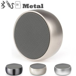 Wholesale portable chess - Wholesale BS01 Mini Round metal chess Portable Bluetooth Speakers,BS-01Base Stereo Alloy Body Chess Handfree Speaker for Smart phone Tablets