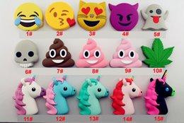 Wholesale Cartoon Poop - 2016 newest POOP Power Bnak 2600mah Funny Cute Emoji Unicorn Shaped Power Bank PVC Material Charge Mobile Cartoon Powerbank For Mobile Phone