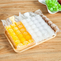 Wholesale Wholesale Novelty Ice Cream Gifts - 100 Pcs disposable ice-making bags Ice Cube Tray Mold Makes Shot Glasses Ice Mould Novelty Gifts Ice Tray Summer Drinking Tool