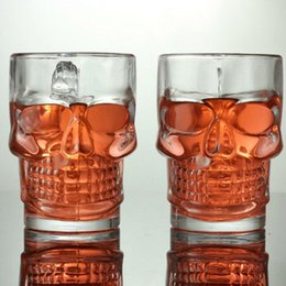 Wholesale Grade Mug - Skull Wine Cup Thickening 500ML Transparent Glass High Quality Bar Special Purpose Mug Creative High Grade Gift For Friends 5 51yq J R