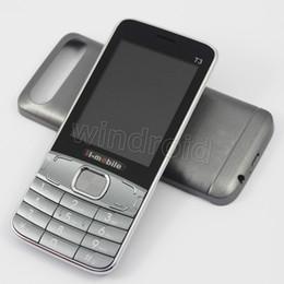 Mp3 сотовый телефон фонарик онлайн-Дешевые GSM Quad Band Dual Sim 2.8-дюймовый TFT экран бар сотовый телефон без OS H-Mobile T3 Bluetooth MP3 камеры фонарик бесплатная DHL 30 шт.