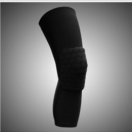Wholesale Honeycomb Basketball Knee Pads - High quality Men's sports safety knee pads Basketball Arm Sleeve Leg Sleeve Breathable Football Safety Elbow Pad Honeycomb Knee Pads one pcs