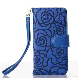 Wholesale Mobile Press - C C STYLE LEATHER HOLSTER pressed Camellia apple 5S 5C 6 6PLUS, Samsung S6 S6 EDGE mobile phone shell