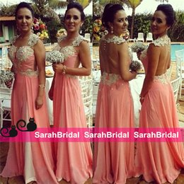Wholesale Short Dresses For Bride Maids - Sweetheart Brides Maids of Honor Wear 2016 Bridesmaid Dresses for Bridal Wedding Evening Sale See Through Back Appliqued Pearls Party Gowns