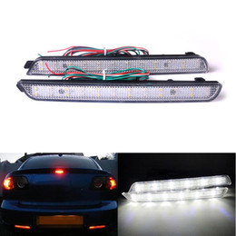 2019 luz de freno de estacionamiento LED Car Styling Red Rear Bumper Reflector Luz de advertencia de aparcamiento de niebla Stop Brake Light Tail Lamp para Mazda3 MazdaSpeed3 2004-2009 rebajas luz de freno de estacionamiento