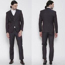 Wholesale Grey Men Slim Fit Suits - Customize Slim Fit Groom Tuxedos Groomsmen Light Grey Side Vent Wedding Best Man Suit Men's Suits