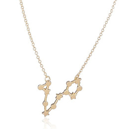Wholesale Pisces Pendant Necklace - New Pisces Zodiac Sign Pendants Long Chain Necklace Real 18 K Gold Silver Plated Summer Collier Women Love Jewelry Wholesale And Retail