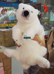 Wholesale Large Christmas Bears - Dorimytrader 39''   100cm Large Soft Stuffed Lovely Cute Plush Simulated Animal Polar Bear Toy Nice Baby Gift Free Shipping DY60307
