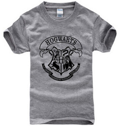 Wholesale Unique Design Shirts - Hot Sale men t shirt harry potter hogwarts print shirts unique design harry potter costume cool magic school hogwarts t-shirt
