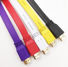 Canada Câble HDMI couleur 5FT 1,5 m Premium pour 3D DVD PS3 Câble XBOX LCD HDTV 1080p coloré plat Offre