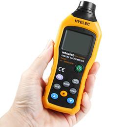 2019 velocidades de fluxo Atacado-HYELEC MS6208B LCD sem contato Digital Tacômetro Medidor de teste de fluxo de ar Velocímetro Tester para Industrial Agrícola