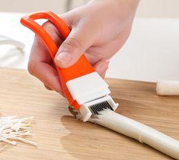 Wholesale Green Shallots - Green Onion Cutter Shredder Slicer Knife Shallot Divider Popular Kitchen Gadgets Tool