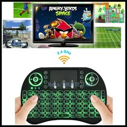 Wholesale Mini Bluetooth Touchpad - Wireless Backlight Keyboard Rii Mini i8 2.4G Air Mouse Media Player Remote Control bluetooth game Touchpad for Android TV Box M8S keyboards