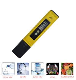 Testeurs de ph pour l'eau en Ligne-Date Protable LCD Numérique PH Mètre Stylo de Testeur Aquarium Piscine Eau Vin Urine ph-2 ph-02
