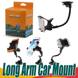 Wholesale Dashboard Mount Cell Phone Holder - 360° Rotating Car Mount Long Arm Car Phone Suction Cup Holder Universal Windshield Dashboard Cell Phone Rotation Holder